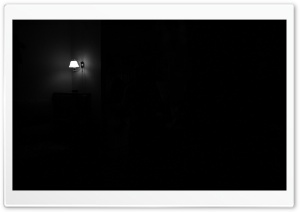 Lamp In Darkness HD Wide Wallpaper for Widescreen