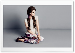 Lana Del Rey with Pigtails HD Wide Wallpaper for Widescreen