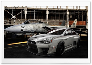 Lancer Evo Military HD Wide Wallpaper for Widescreen