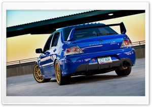 Lancer Evolution Blue HD Wide Wallpaper for 4K UHD Widescreen desktop & smartphone