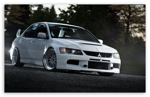 Lancer Evolution White On The Road HD wallpaper for Wide 16:10 5:3 Widescreen WHXGA WQXGA WUXGA WXGA WGA ; HD 16:9 High Definition WQHD QWXGA 1080p 900p 720p QHD nHD ; Mobile 5:3 16:9 - WGA WQHD QWXGA 1080p 900p 720p QHD nHD ;