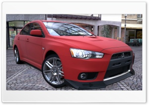 Lancer Evolution X Red Matte HD Wide Wallpaper for Widescreen
