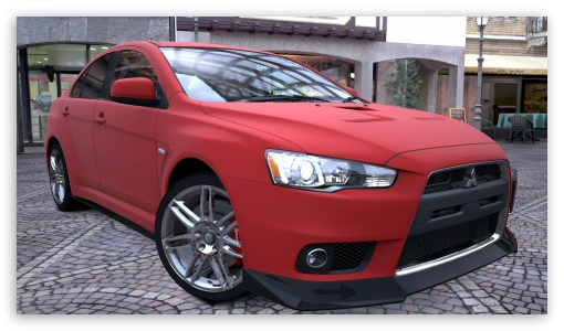 Lancer Evolution X Red Matte HD wallpaper for HD 16:9 High Definition WQHD QWXGA 1080p 900p 720p QHD nHD ; UHD 16:9 WQHD QWXGA 1080p 900p 720p QHD nHD ; Mobile 16:9 - WQHD QWXGA 1080p 900p 720p QHD nHD ;