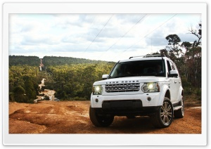 Land Rover Discovery 4 White HD Wide Wallpaper for Widescreen