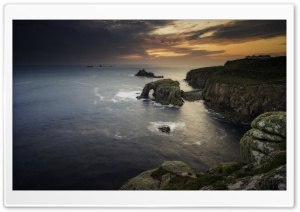 Land s End Landmark Attraction, Cornwall, Scenery Ultra HD Wallpaper for 4K UHD Widescreen desktop, tablet & smartphone