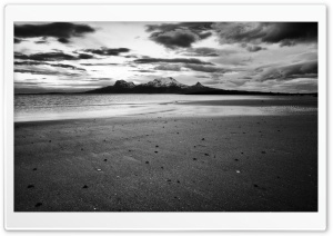Landegode Island Black and White HD Wide Wallpaper for Widescreen