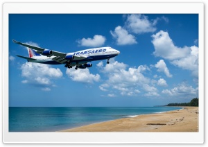 Landing at Beach HD Wide Wallpaper for Widescreen