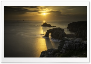 Lands End Landmark Cornwall Coastal View Ultra HD Wallpaper for 4K UHD Widescreen desktop, tablet & smartphone