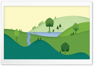 Landscape Cartoon HD Wide Wallpaper for 4K UHD Widescreen desktop & smartphone