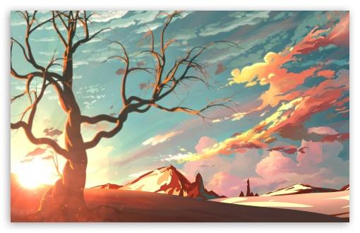 Landscape Illustration Ultra Hd Desktop Background Wallpaper For 4k Uhd Tv Widescreen Ultrawide Desktop Laptop Tablet Smartphone