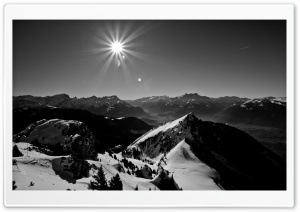 Landscape In Black And White HD Wide Wallpaper for Widescreen