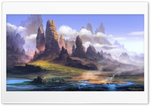 Landscape Painting HD Wide Wallpaper for Widescreen