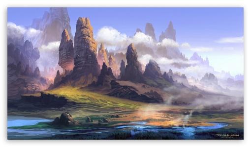 Landscape Painting ❤ 4K UHD Wallpaper for 4K UHD 16:9 Ultra High Definition 2160p 1440p 1080p 900p 720p ; Mobile 16:9 - 2160p 1440p 1080p 900p 720p ;