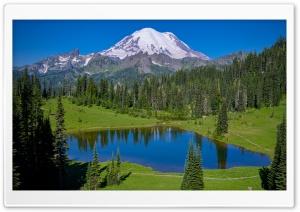 Landscape, Tipsoo Lake, Mt. Rainier National Park, Washington Ultra HD Wallpaper for 4K UHD Widescreen desktop, tablet & smartphone