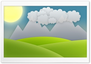Landscape Vector Art HD Wide Wallpaper for Widescreen