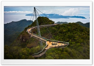 Langkawi Sky Bridge Malaysia HD Wide Wallpaper for 4K UHD Widescreen desktop & smartphone
