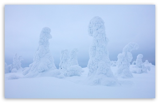Download Lapland Finland Winter Wonderland Landscape HD Wallpaper