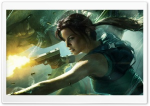 Lara Croft HD Wide Wallpaper for Widescreen