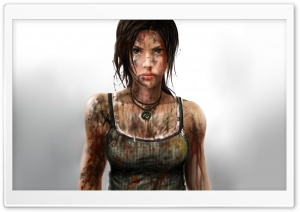 Lara Croft 2013 Art HD Wide Wallpaper for Widescreen