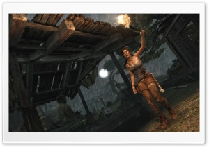 Lara Croft - Exploration (Tomb Raider 2013) HD Wide Wallpaper for Widescreen