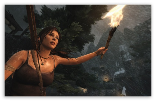 Download Lara Croft - Night (Tomb Raider 2013) HD Wallpaper