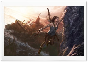 Lara Croft A Survivor Is Born HD Wide Wallpaper for Widescreen