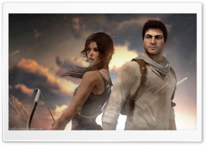 Lara Croft and Nathan Drake HD Wide Wallpaper for 4K UHD Widescreen desktop & smartphone