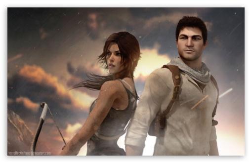 Lara Croft Tomb Raider And Nathan Drake Uncharted Crossover