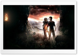 Lara Croft and Nathan Drake HD Wide Wallpaper for Widescreen