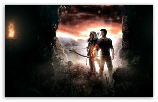 Download Lara Croft and Nathan Drake HD Wallpaper