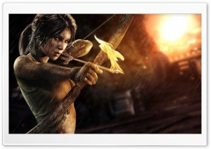 Lara Croft Bow and Arrow HD Wide Wallpaper for Widescreen
