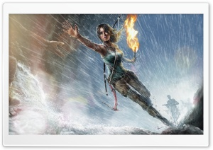 Lara Croft Game Rain HD Wide Wallpaper for Widescreen