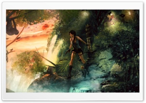 Lara Croft Jungle HD Wide Wallpaper for Widescreen