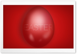 Large Red Easter Egg Ultra HD Wallpaper for 4K UHD Widescreen desktop, tablet & smartphone