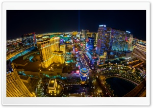 Las Vegas Aerial View HD Wide Wallpaper for 4K UHD Widescreen desktop & smartphone