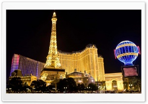 Las Vegas At Night HD Wide Wallpaper for 4K UHD Widescreen desktop & smartphone