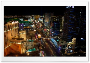 Las Vegas at Night HD Wide Wallpaper for Widescreen