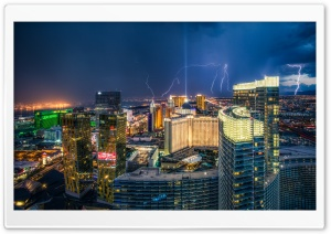 Las Vegas Lightnings HD Wide Wallpaper for 4K UHD Widescreen desktop & smartphone