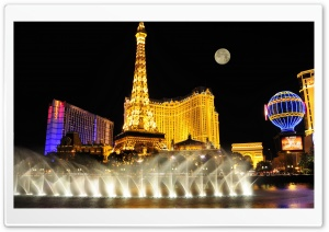 Las Vegas Night View HD Wide Wallpaper for Widescreen