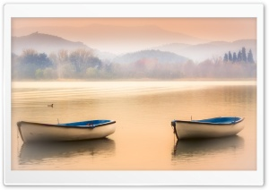 Late Afternoon In Banyoles, Spain HD Wide Wallpaper for Widescreen