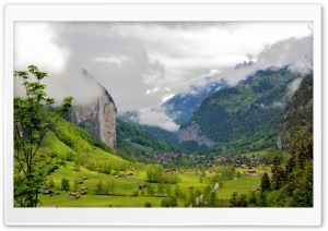 Lauterbrunnen Valley, Switzerland HD Wide Wallpaper for Widescreen