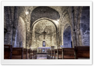 Le Castellet Medieval Church HD Wide Wallpaper for Widescreen