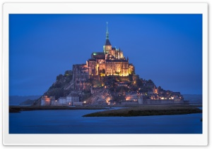 Le Mont Saint Michel Castle HD Wide Wallpaper for 4K UHD Widescreen desktop & smartphone
