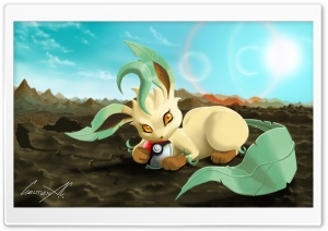 Leafeon (Pokemon) HD Wide Wallpaper for Widescreen