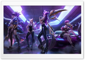League of Legends, Kai Sa, Ahri, Akali, Evelynn, video game HD Wide Wallpaper for 4K UHD Widescreen desktop & smartphone