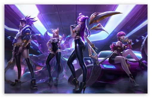 Download League of Legends, Kai Sa, Ahri, Akali,... UltraHD Wallpaper