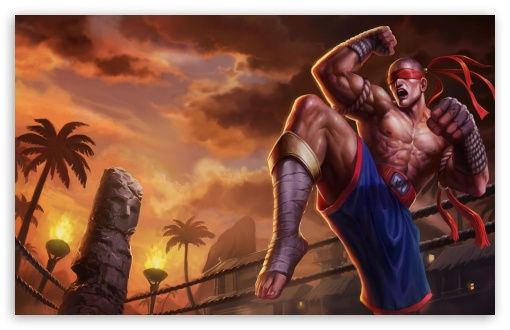Download League Of Legends Lee Sin the Blind Monk HD Wallpaper
