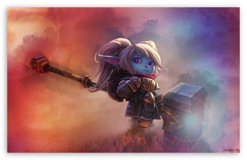 League Of Legends Poppy Edit 4k Hd Desktop Wallpaper For