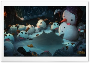 League of Legends Snowman HD Wide Wallpaper for Widescreen