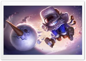 League Of Legends Snowman  Concept Art HD Wide Wallpaper for 4K UHD Widescreen desktop & smartphone